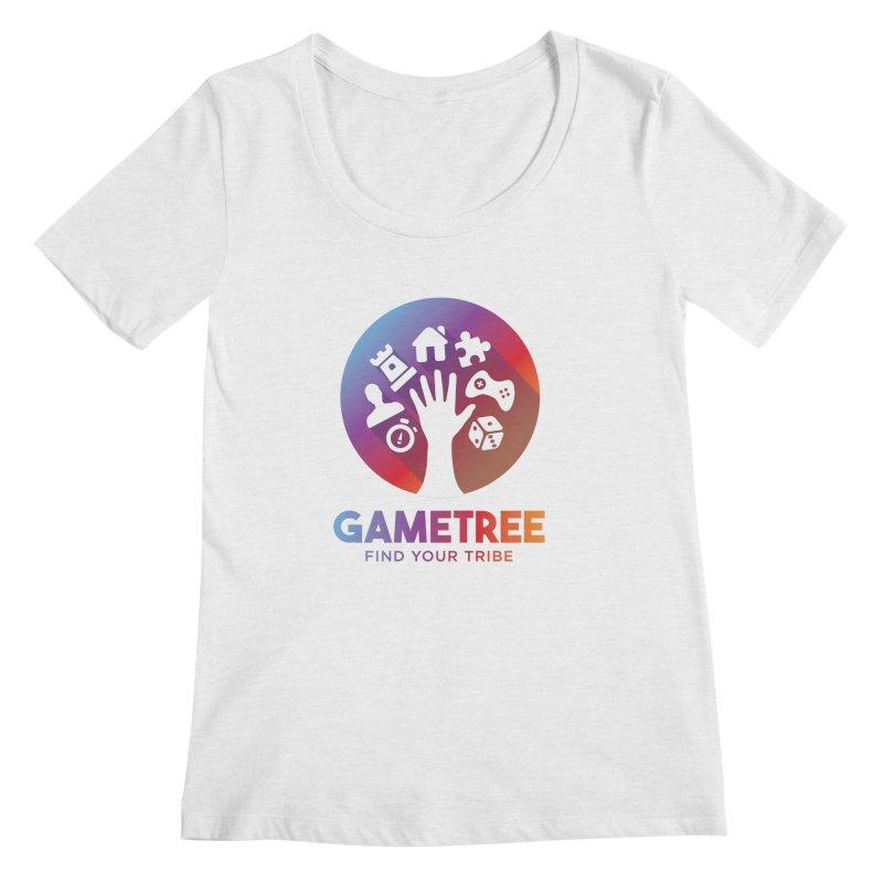 Support GameTree Women's Regular Scoop Neck by GameTree Shop