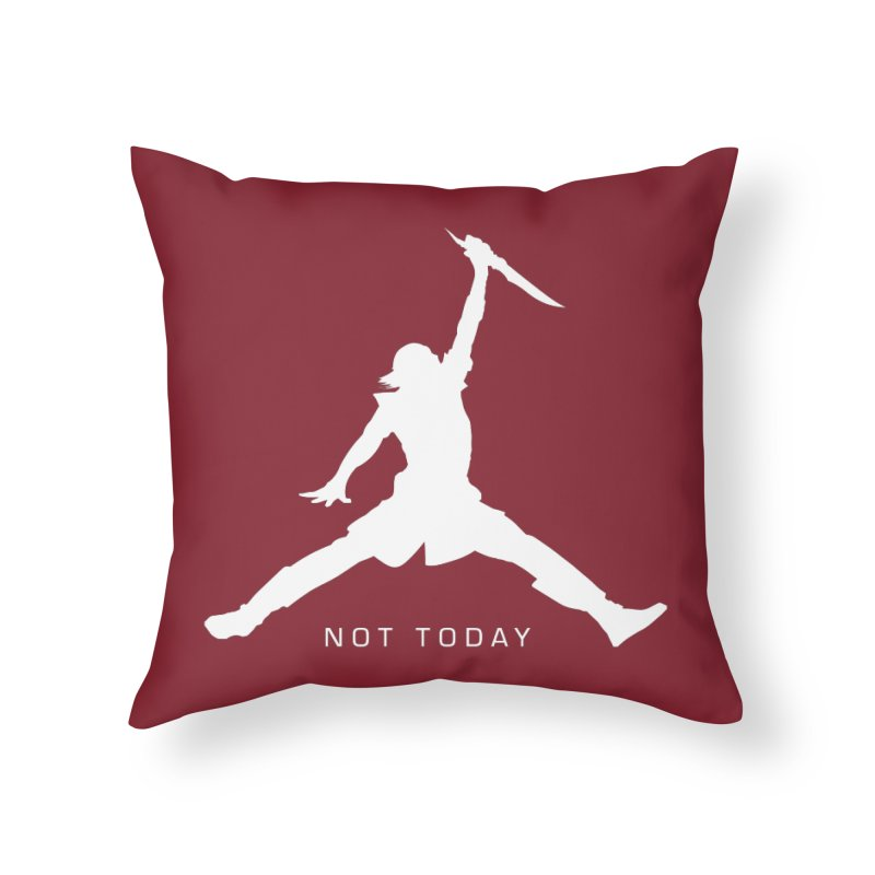 What do we say to Death? Home Throw Pillow by Gamma Bomb - Explosively Mutating Your Look