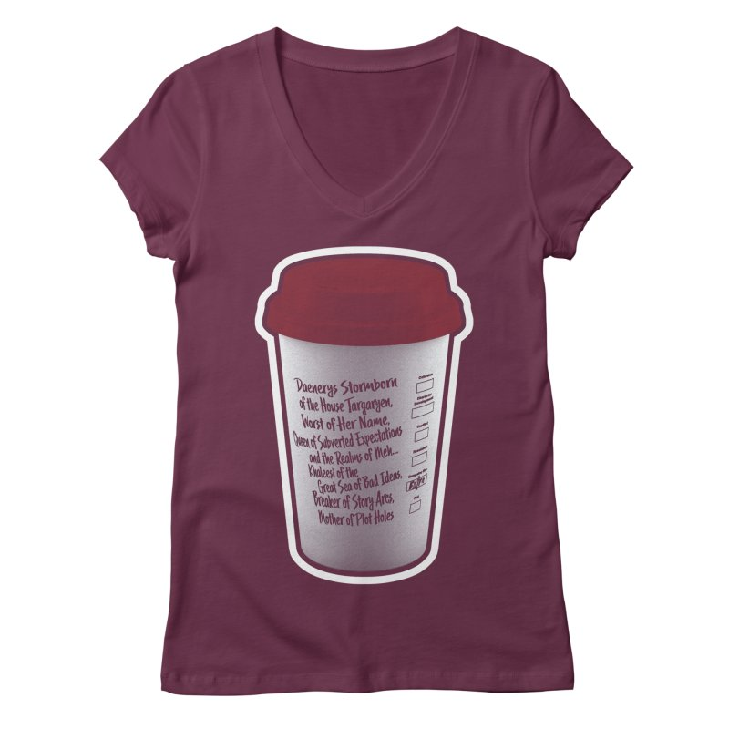 Hot Mess Women's Regular V-Neck by Gamma Bomb - Explosively Mutating Your Look