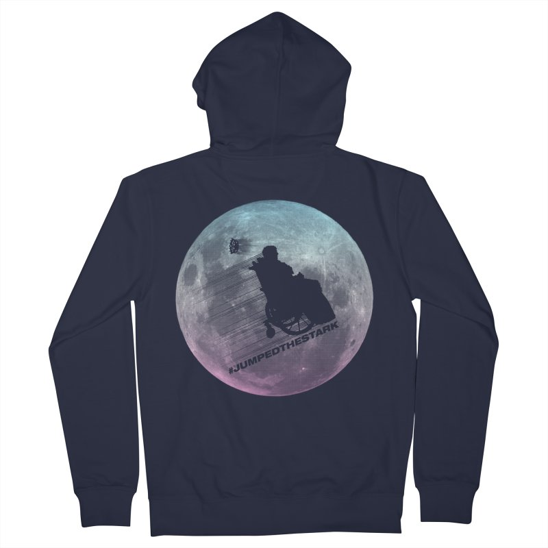 Jumped the Stark Men's French Terry Zip-Up Hoody by Gamma Bomb - Explosively Mutating Your Look