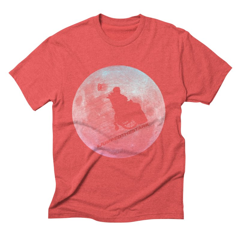 Jumped the Stark Men's Triblend T-Shirt by Gamma Bomb - Explosively Mutating Your Look