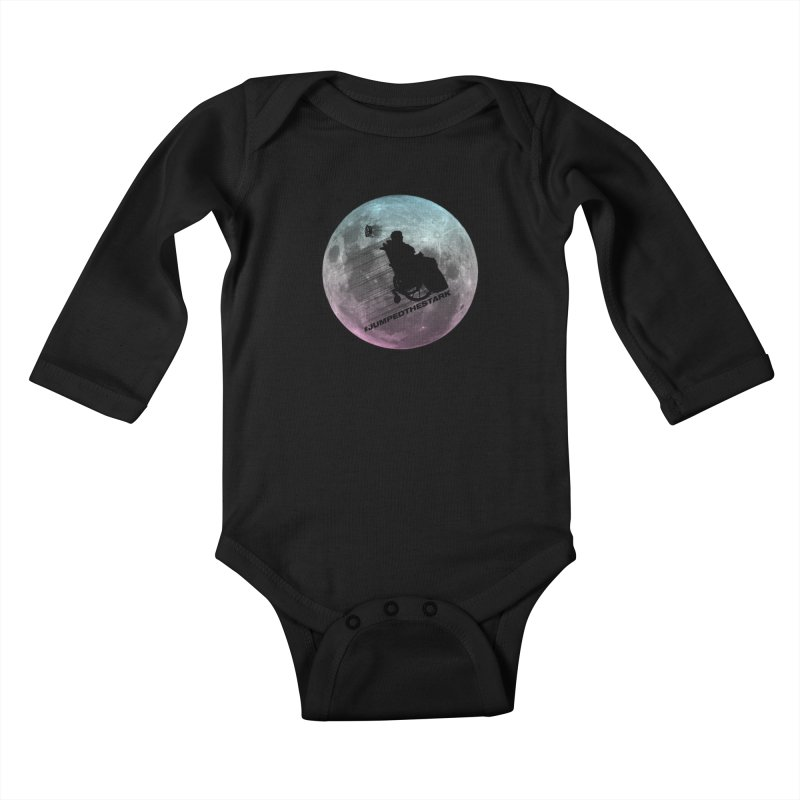 Jumped the Stark Kids Baby Longsleeve Bodysuit by Gamma Bomb - Explosively Mutating Your Look