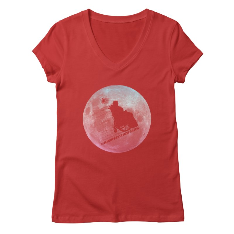Jumped the Stark Women's Regular V-Neck by Gamma Bomb - Explosively Mutating Your Look