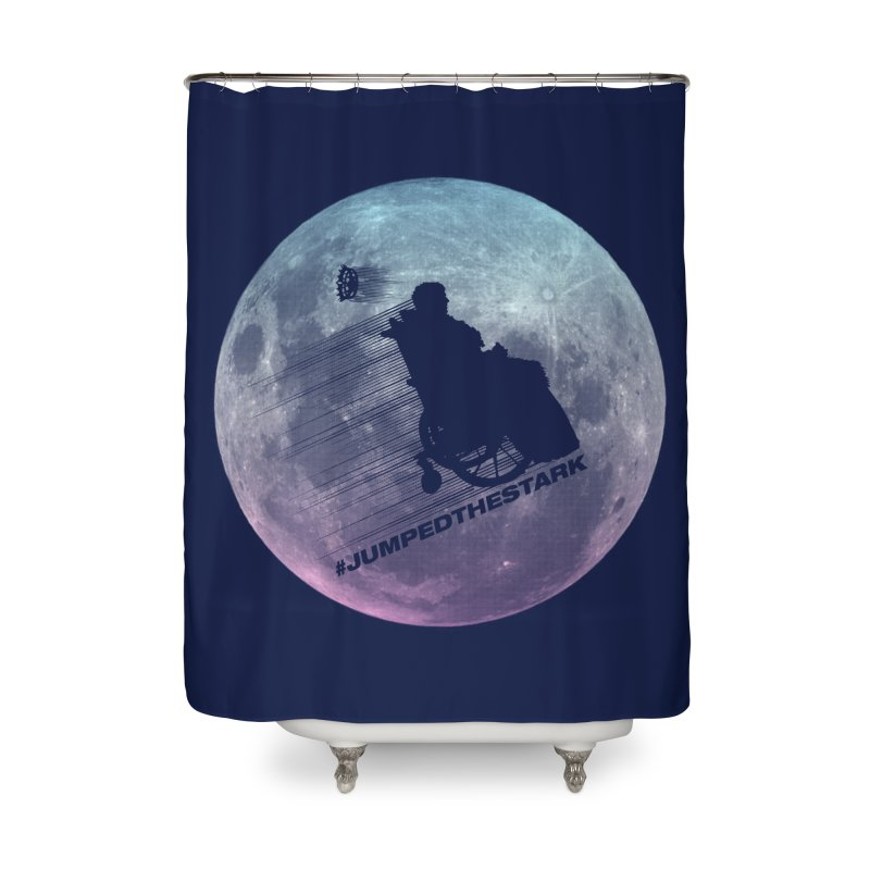 Jumped the Stark Home Shower Curtain by Gamma Bomb - Explosively Mutating Your Look