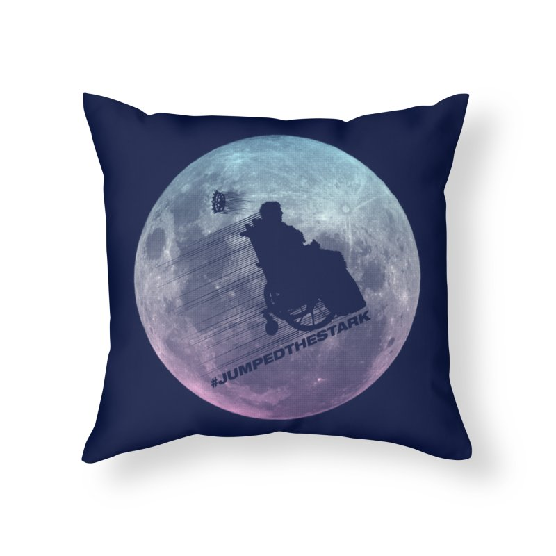 Jumped the Stark Home Throw Pillow by Gamma Bomb - Explosively Mutating Your Look