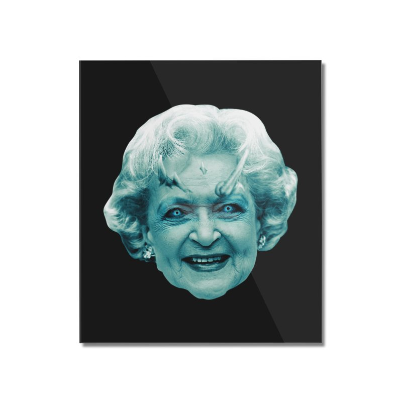 Betty Whitewalker Home Mounted Acrylic Print by Gamma Bomb - Explosively Mutating Your Look