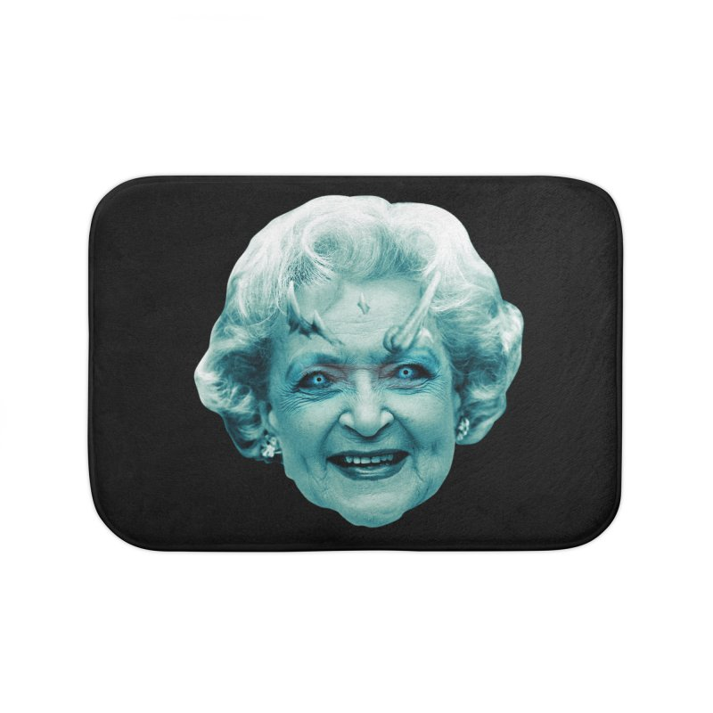 Betty Whitewalker Home Bath Mat by Gamma Bomb - Explosively Mutating Your Look