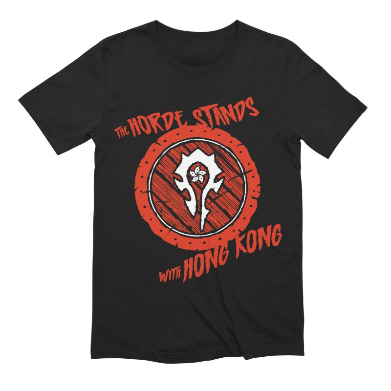 The Horde Stands With Hong Kong Men's Extra Soft T-Shirt by Gamma Bomb - Explosively Mutating Your Look
