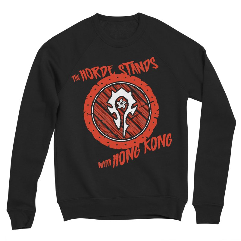 The Horde Stands With Hong Kong Men's Sponge Fleece Sweatshirt by Gamma Bomb - Explosively Mutating Your Look