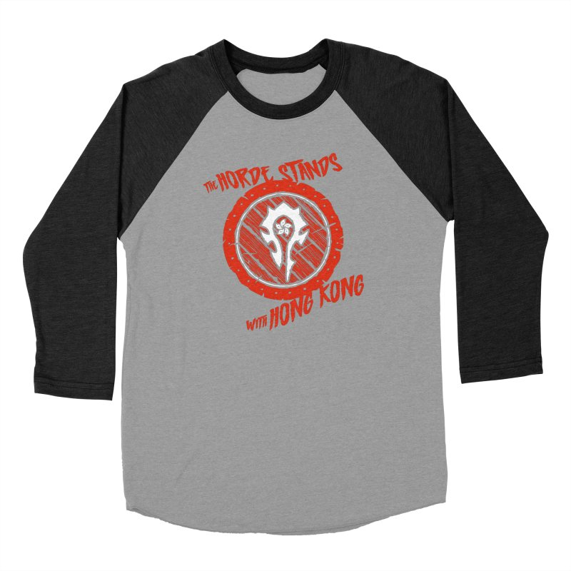 The Horde Stands With Hong Kong Men's Baseball Triblend Longsleeve T-Shirt by Gamma Bomb - Explosively Mutating Your Look