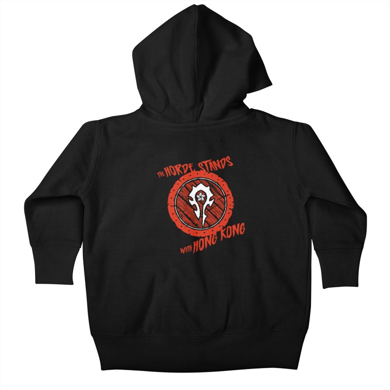 The Horde Stands With Hong Kong Kids Baby Zip-Up Hoody by Gamma Bomb - Explosively Mutating Your Look