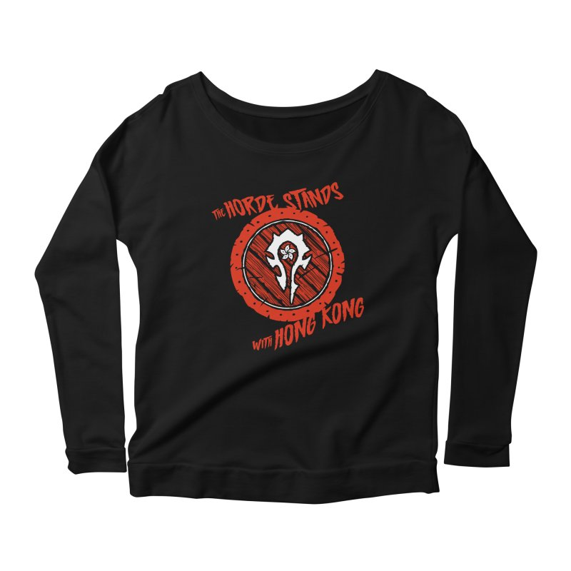The Horde Stands With Hong Kong Women's Longsleeve T-Shirt by Gamma Bomb - Explosively Mutating Your Look