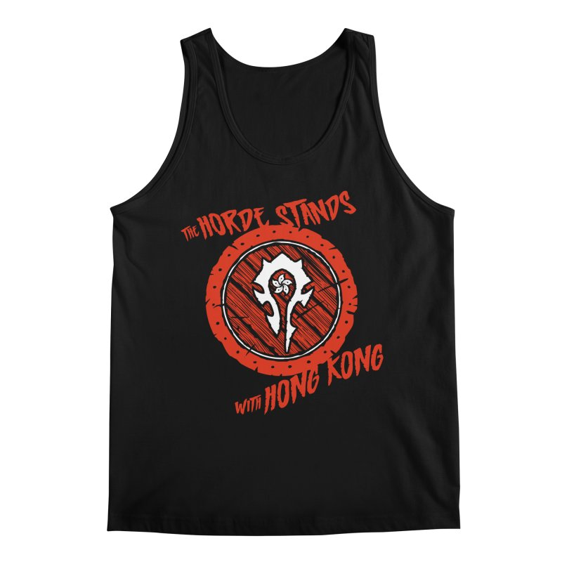 The Horde Stands With Hong Kong Men's Regular Tank by Gamma Bomb - Explosively Mutating Your Look