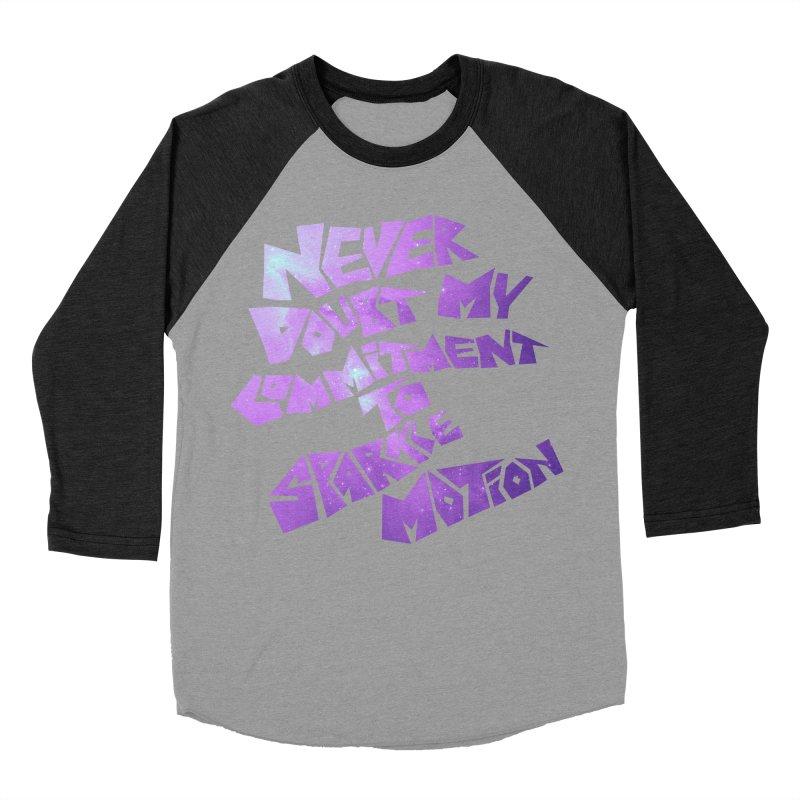 Sparkle Motion Women's Baseball Triblend T-Shirt by Gamma Bomb - A Celebration of Imagination