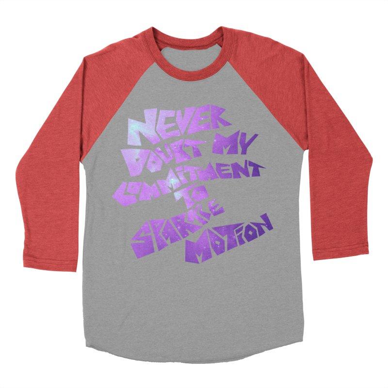 Sparkle Motion Men's Baseball Triblend T-Shirt by Gamma Bomb - A Celebration of Imagination