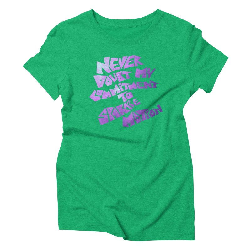 Sparkle Motion Women's Triblend T-Shirt by Gamma Bomb - A Celebration of Imagination