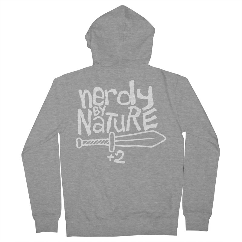 Nerdy By Nature Men's Zip-Up Hoody by Gamma Bomb - A Celebration of Imagination