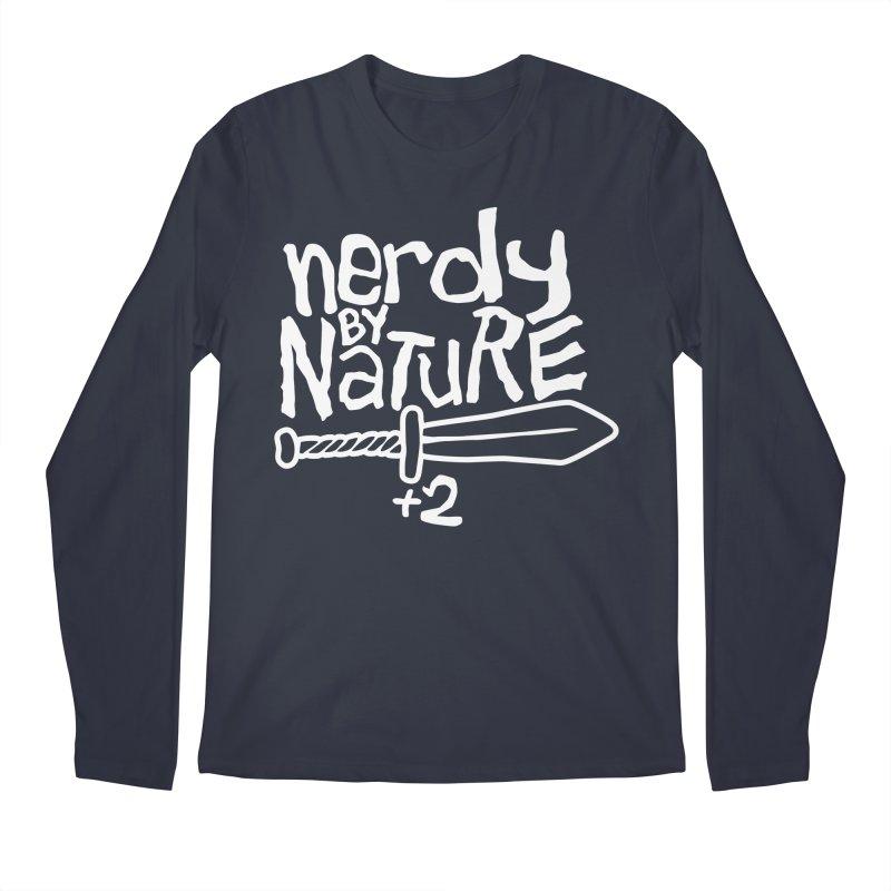 Nerdy By Nature Men's Longsleeve T-Shirt by Gamma Bomb - A Celebration of Imagination