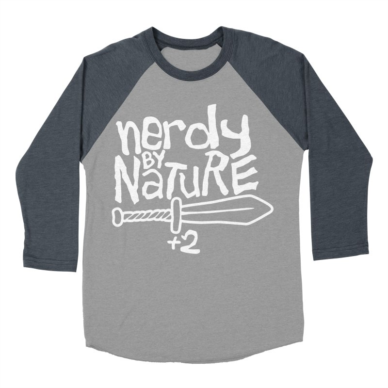 Nerdy By Nature Women's Baseball Triblend T-Shirt by Gamma Bomb - A Celebration of Imagination
