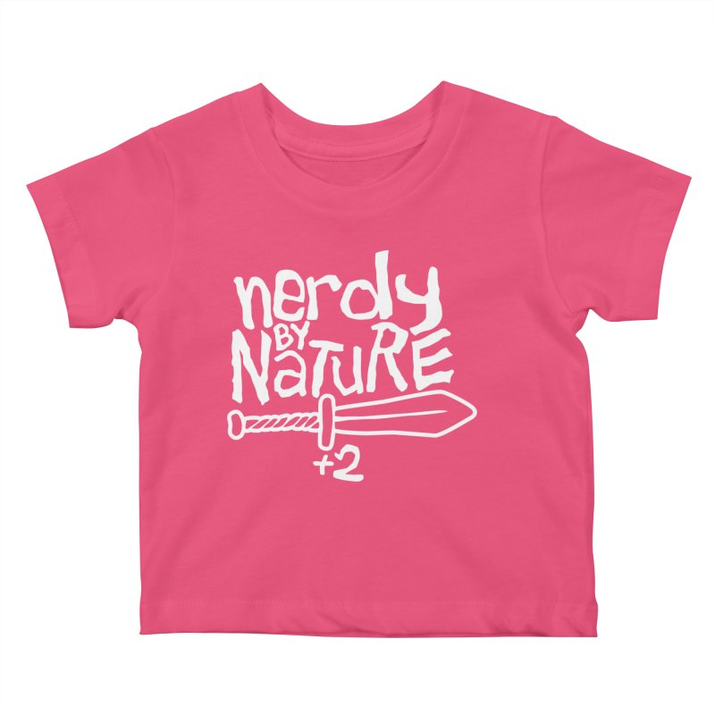 Nerdy By Nature Kids Baby T-Shirt by Gamma Bomb - A Celebration of Imagination
