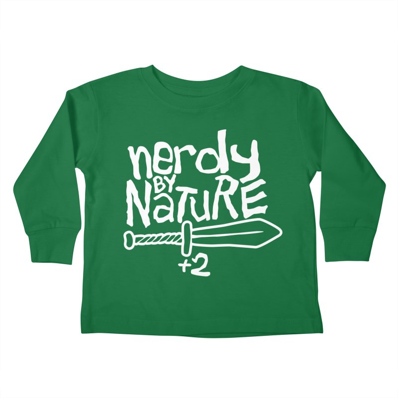 Nerdy By Nature Kids Toddler Longsleeve T-Shirt by Gamma Bomb - A Celebration of Imagination