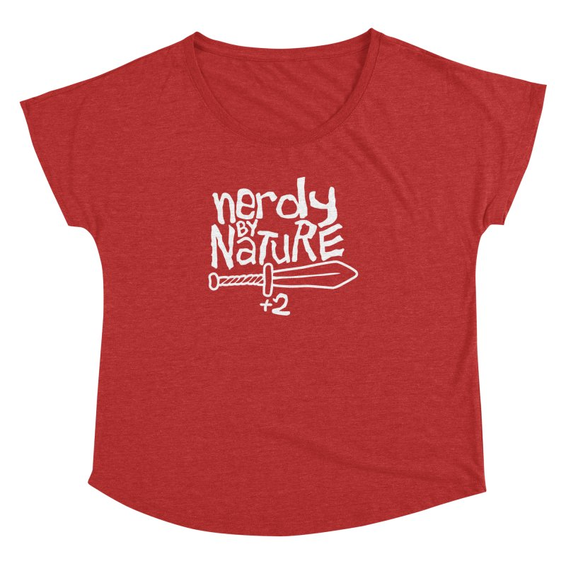 Nerdy By Nature Women's Scoop Neck by Gamma Bomb - A Celebration of Imagination
