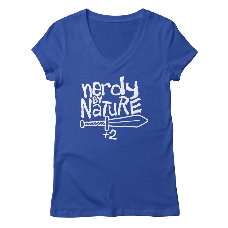 Nerdy By Nature Women's V-Neck by Gamma Bomb - A Celebration of Imagination