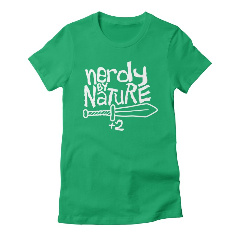 Nerdy By Nature Women's Fitted T-Shirt by Gamma Bomb - A Celebration of Imagination