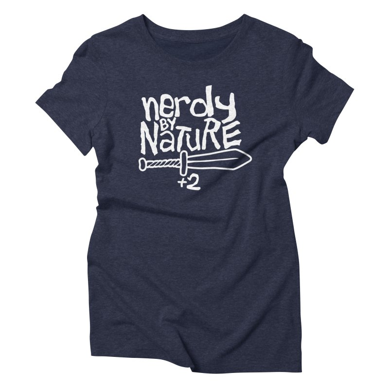 Nerdy By Nature Women's Triblend T-Shirt by Gamma Bomb - A Celebration of Imagination