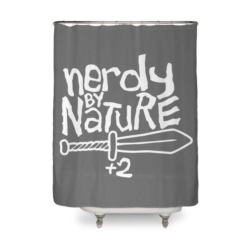 Nerdy By Nature Home Shower Curtain by Gamma Bomb - A Celebration of Imagination