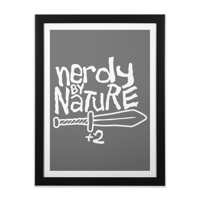 Nerdy By Nature Home Framed Fine Art Print by Gamma Bomb - A Celebration of Imagination