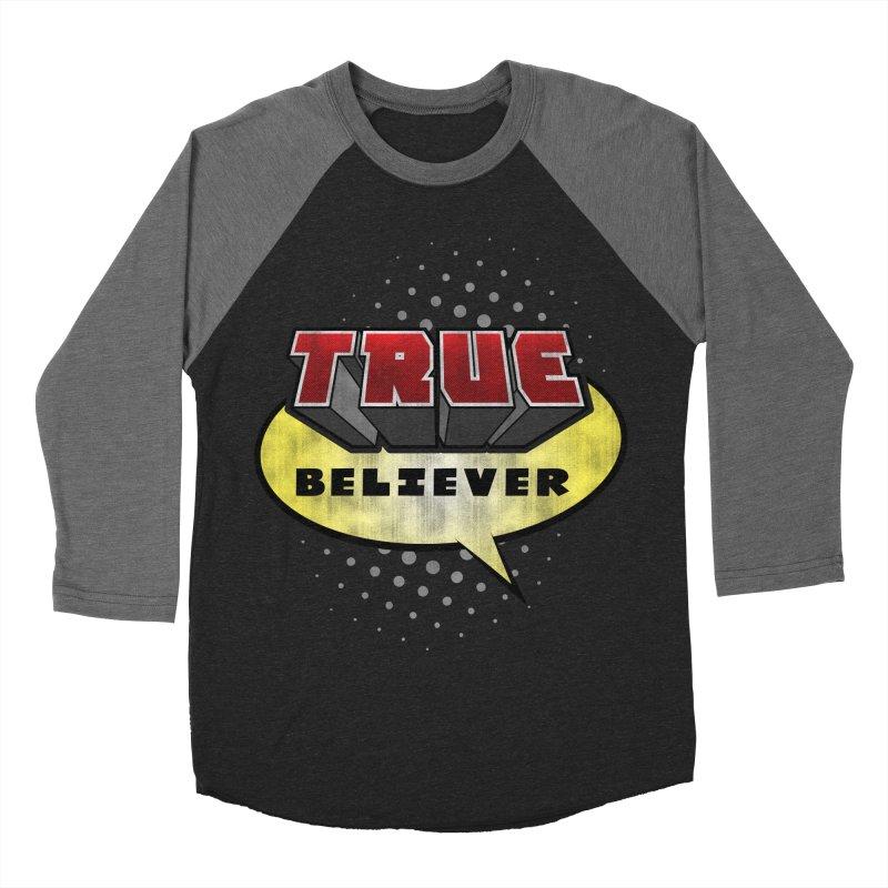 True Believer - Mouthy Merc Flavor Women's Baseball Triblend T-Shirt by Gamma Bomb - A Celebration of Imagination