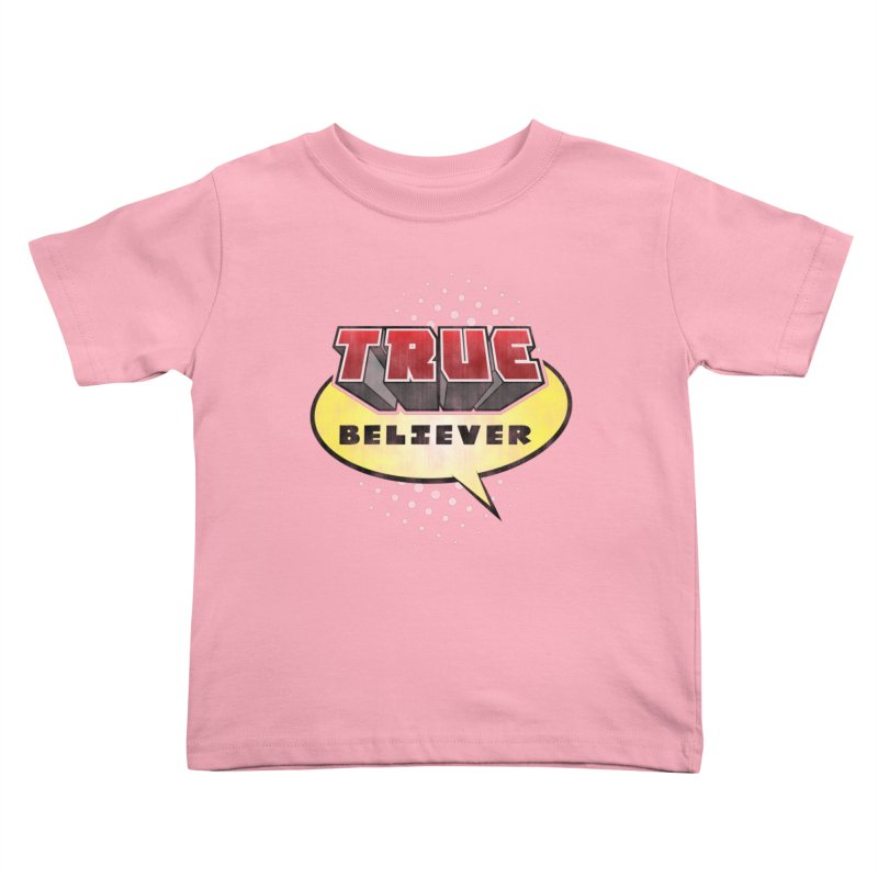 True Believer - Mouthy Merc Flavor Kids Toddler T-Shirt by Gamma Bomb - A Celebration of Imagination