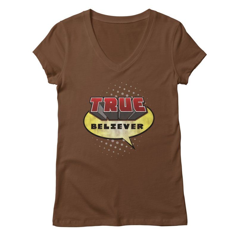 True Believer - Mouthy Merc Flavor Women's V-Neck by Gamma Bomb - A Celebration of Imagination