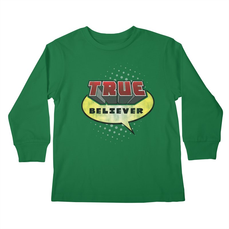 True Believer - Mouthy Merc Flavor Kids Longsleeve T-Shirt by Gamma Bomb - A Celebration of Imagination