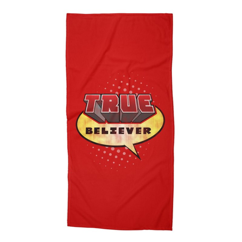 True Believer - Mouthy Merc Flavor Accessories Beach Towel by Gamma Bomb - A Celebration of Imagination