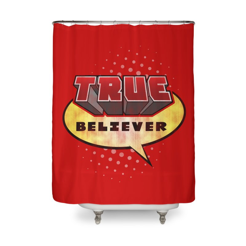 True Believer - Mouthy Merc Flavor Home Shower Curtain by Gamma Bomb - A Celebration of Imagination