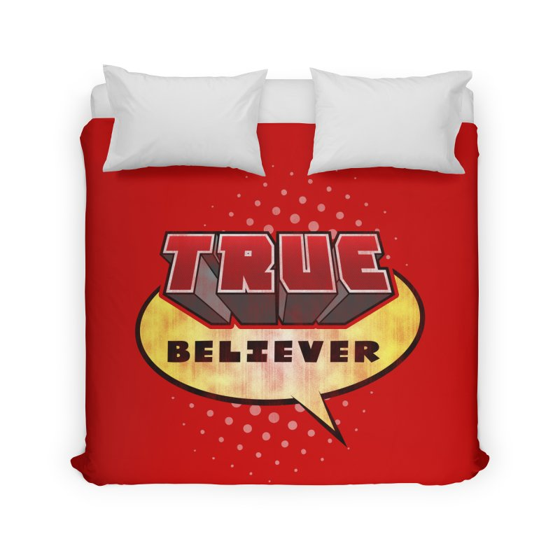 True Believer - Mouthy Merc Flavor Home Duvet by Gamma Bomb - A Celebration of Imagination
