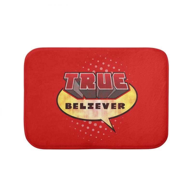 True Believer - Mouthy Merc Flavor Home Bath Mat by Gamma Bomb - A Celebration of Imagination