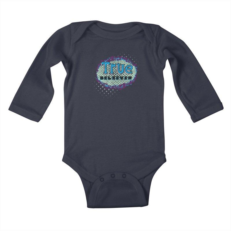 True Believer - Fantastic Flavor Kids Baby Longsleeve Bodysuit by Gamma Bomb - A Celebration of Imagination