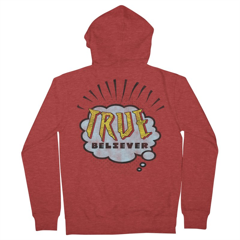 True Believer - Tingling Flavor Men's Zip-Up Hoody by Gamma Bomb - A Celebration of Imagination
