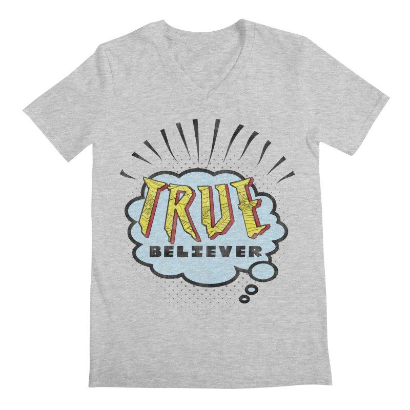True Believer - Tingling Flavor Men's V-Neck by Gamma Bomb - A Celebration of Imagination