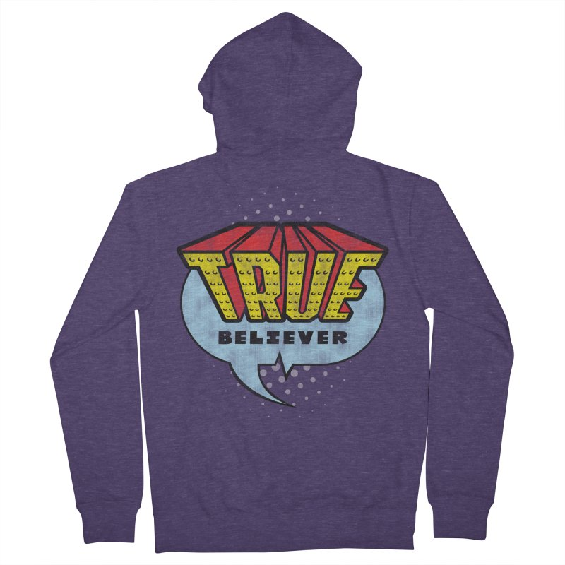 True Believer - Invincible Flavor Men's Zip-Up Hoody by Gamma Bomb - A Celebration of Imagination