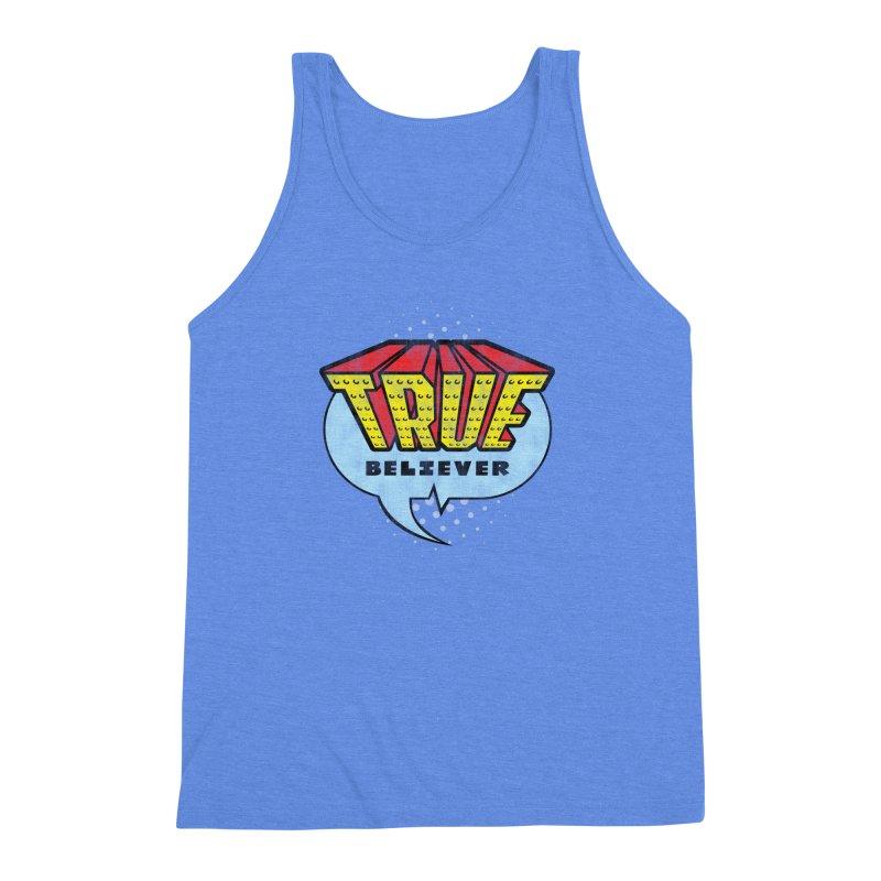 True Believer - Invincible Flavor Men's Triblend Tank by Gamma Bomb - A Celebration of Imagination