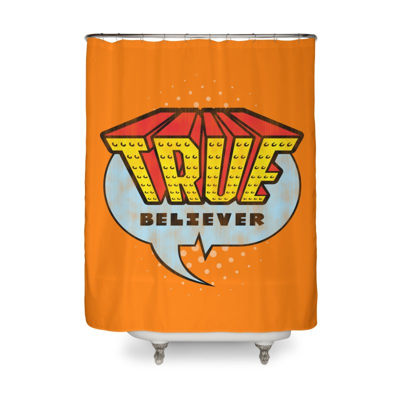True Believer - Invincible Flavor Home Shower Curtain by Gamma Bomb - A Celebration of Imagination