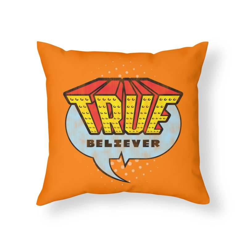 True Believer - Invincible Flavor Home Throw Pillow by Gamma Bomb - A Celebration of Imagination