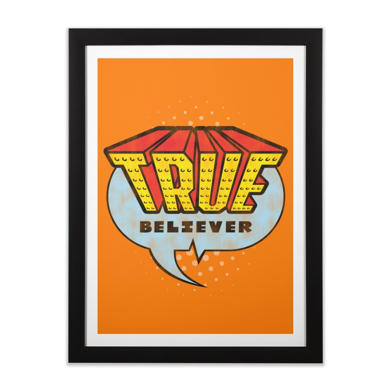 True Believer - Invincible Flavor Home Framed Fine Art Print by Gamma Bomb - A Celebration of Imagination