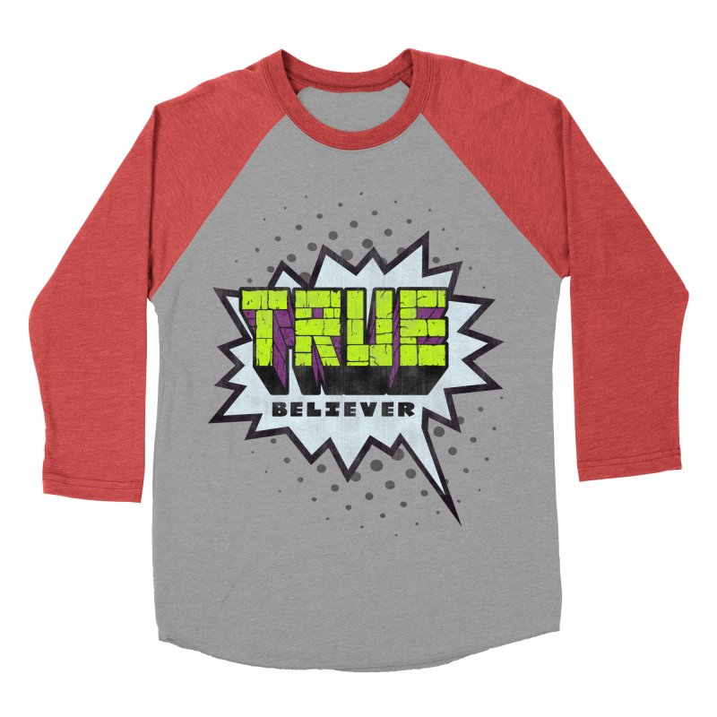 True Believer - Incredible Flavor Men's Baseball Triblend T-Shirt by Gamma Bomb - A Celebration of Imagination