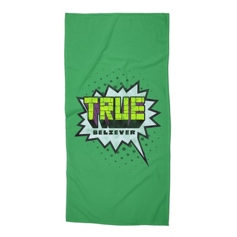 True Believer - Incredible Flavor Accessories Beach Towel by Gamma Bomb - A Celebration of Imagination