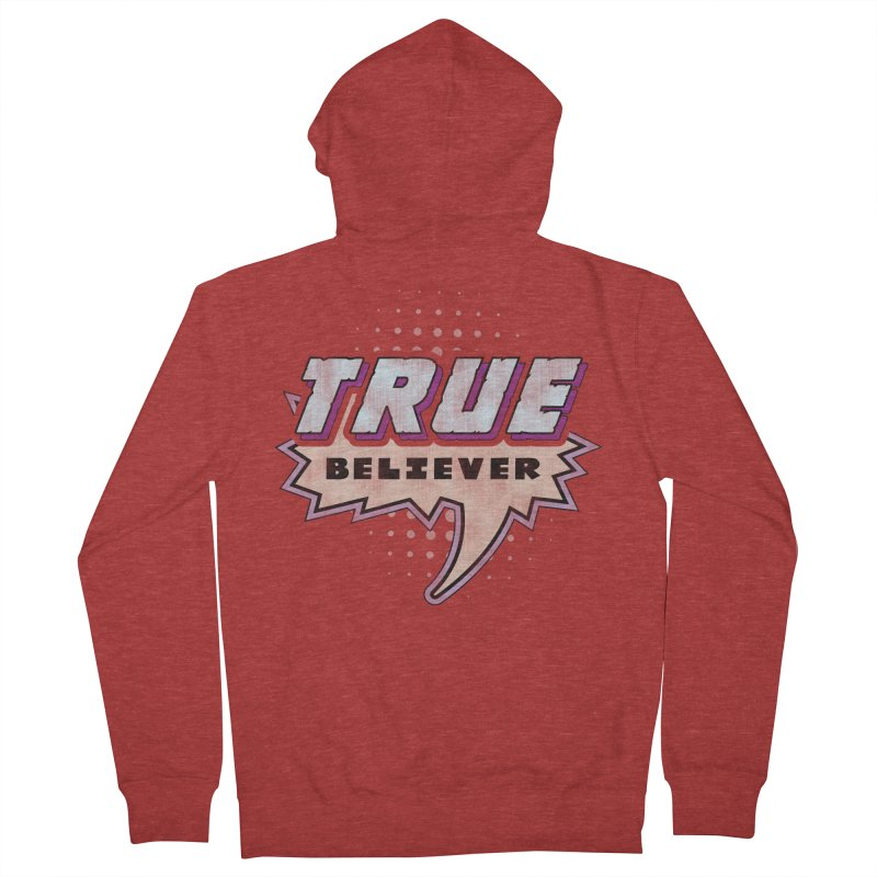 True Believer - Panther Flavor Men's Zip-Up Hoody by Gamma Bomb - A Celebration of Imagination